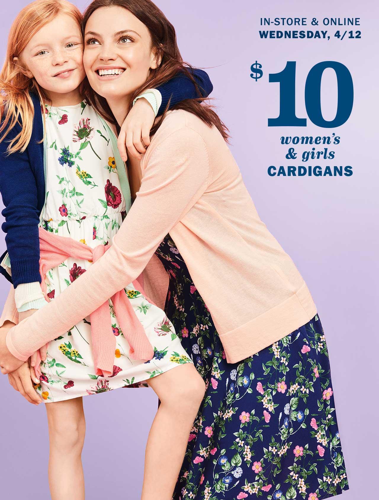 $10 women's & girls CARDIGANS