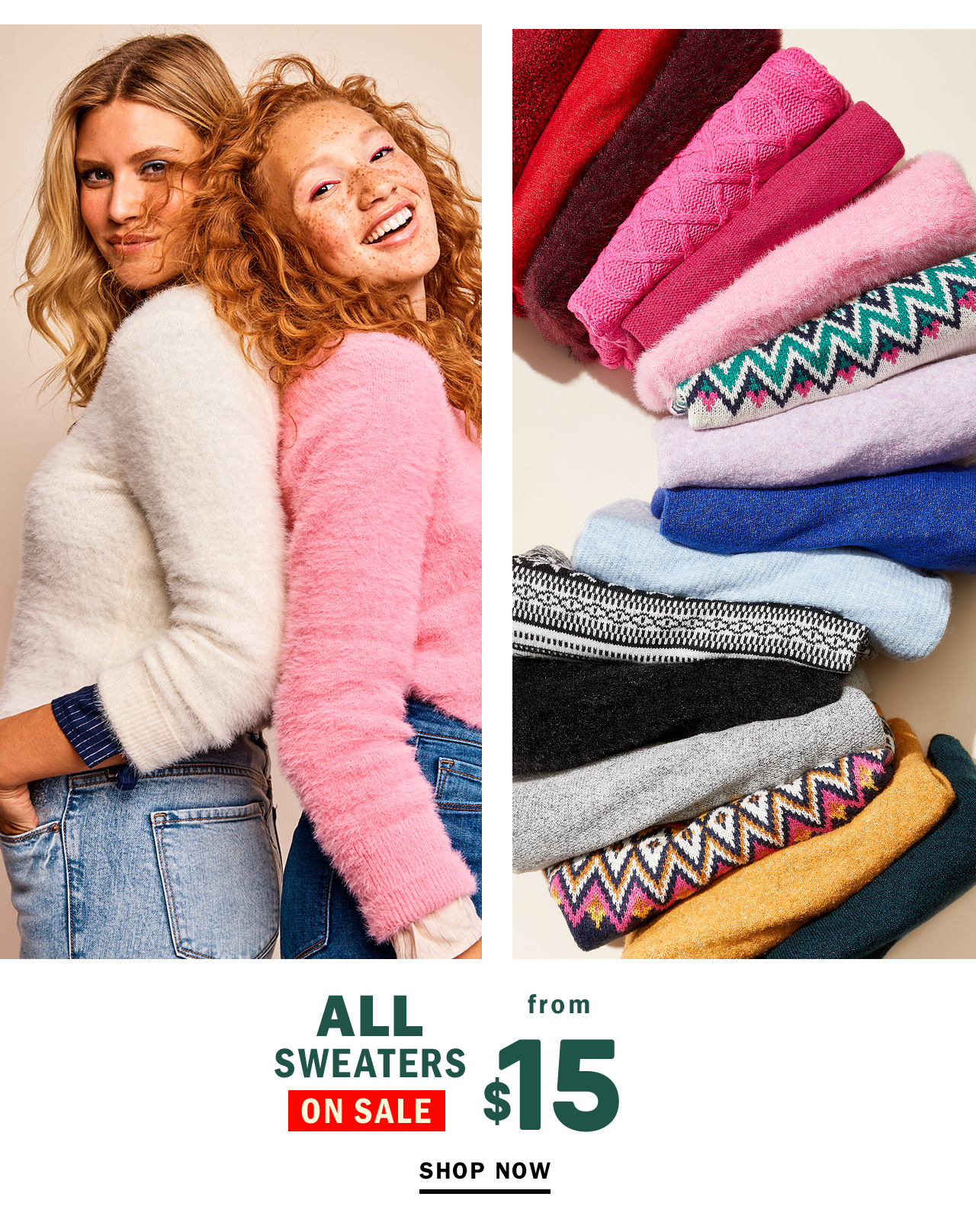 ALL SWEATERS ON SALE