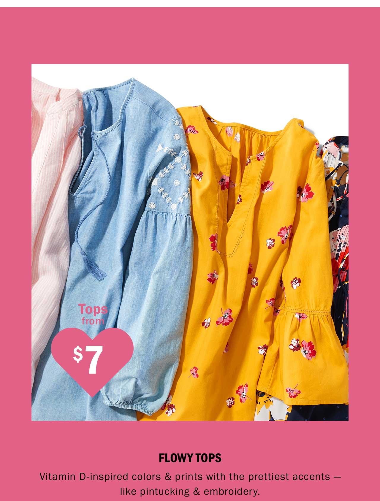 Tops from $7