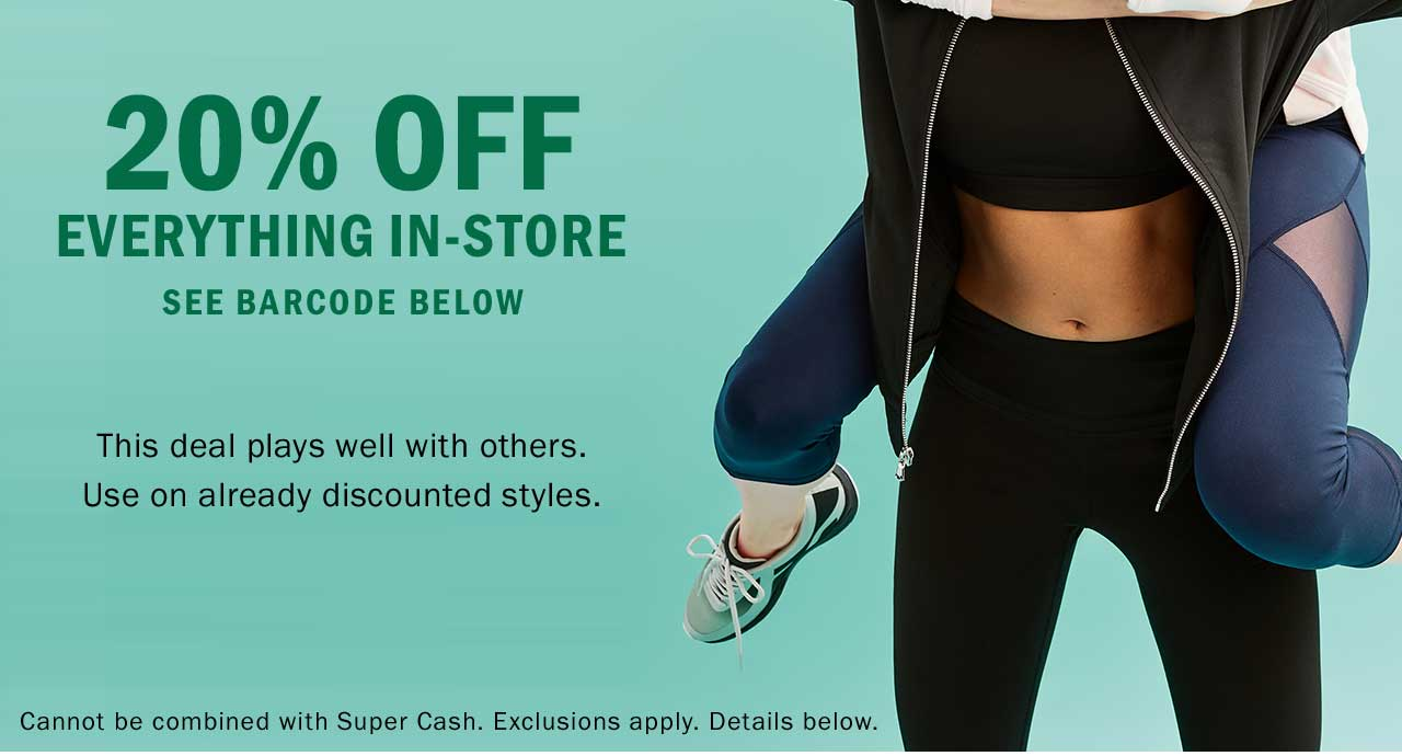 20% OFF EVERYTHING IN-STORE