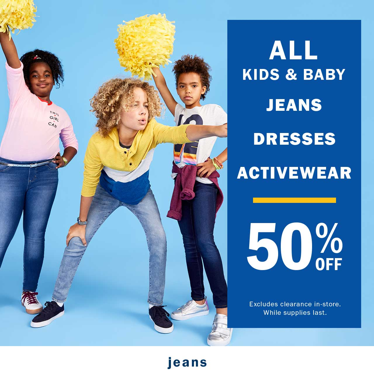 ALL KIDS & BABY JEANS DRESSES ACTIVEWEAR | 50% OFF