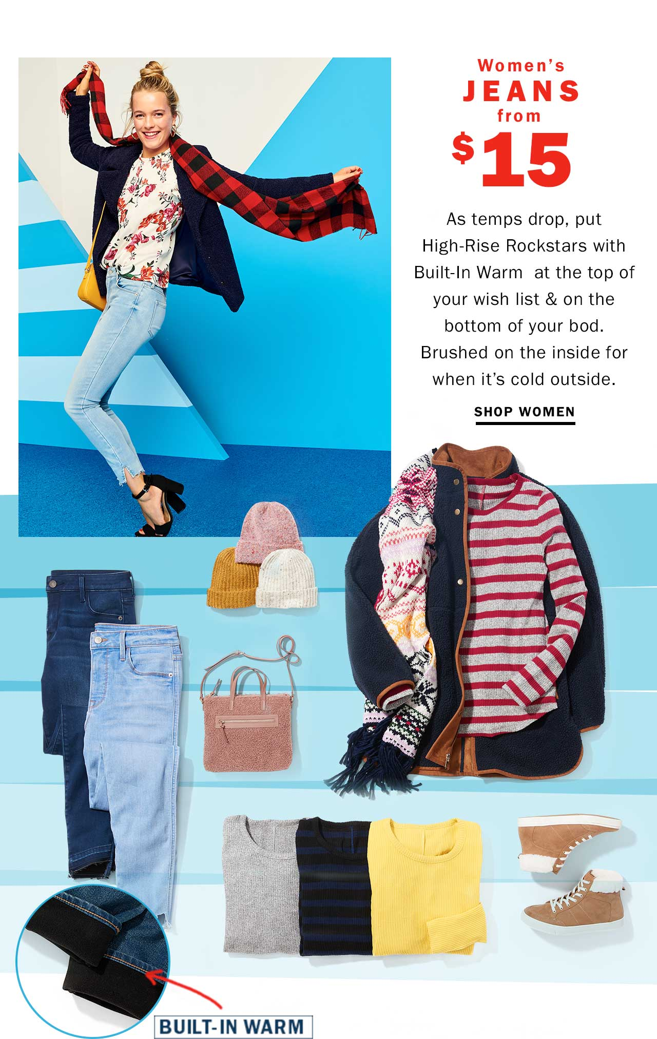 Women's jeans from $15