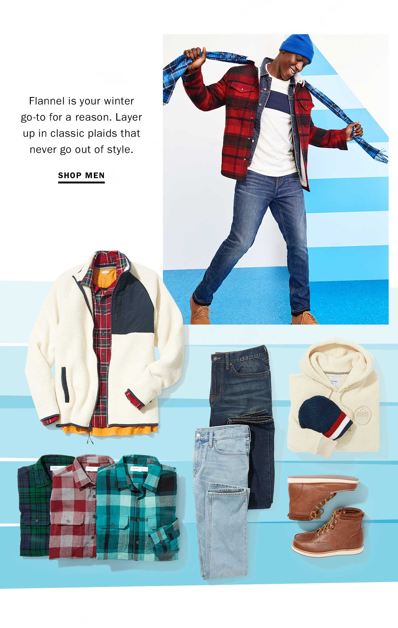 Flannel is your winter go-to for a reason.