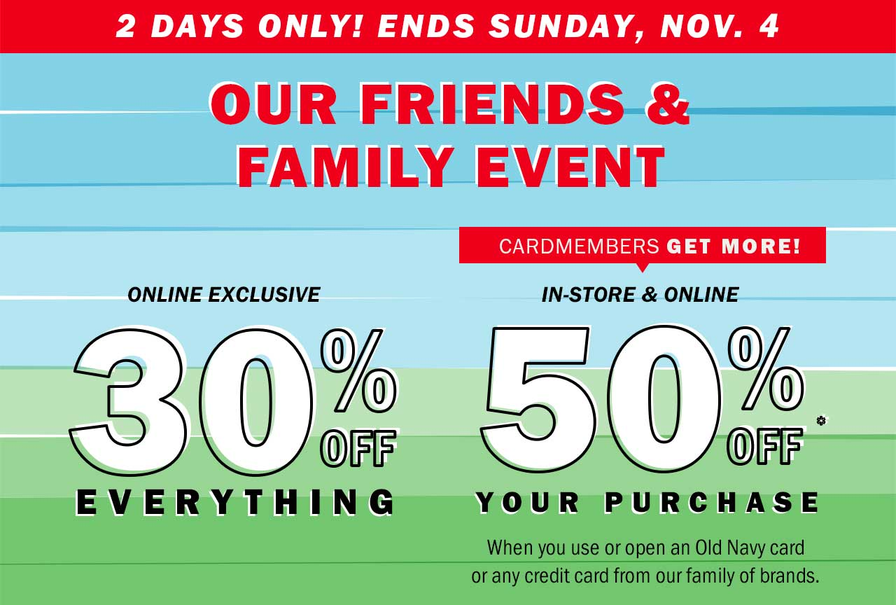 Our friends & family event