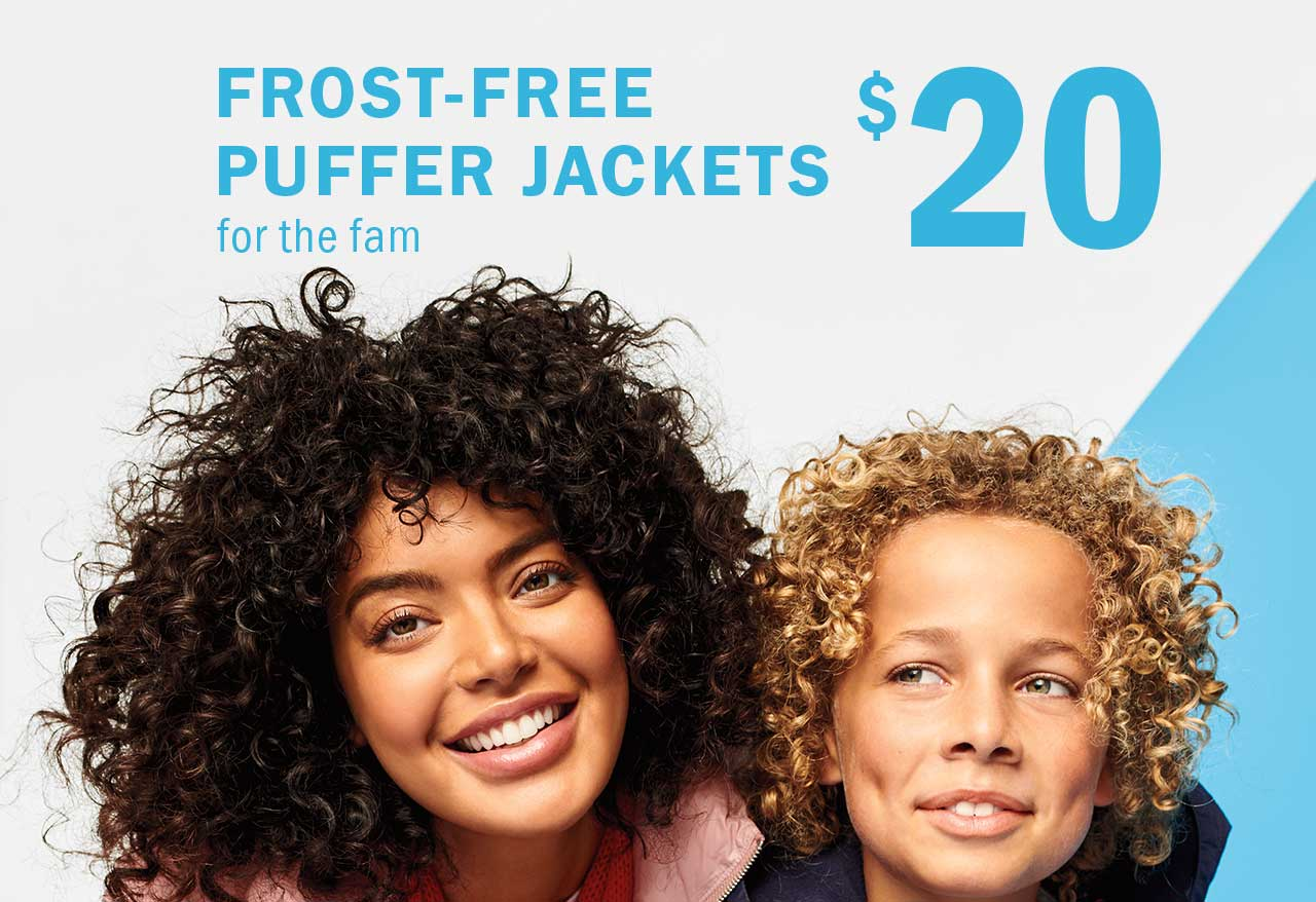 Frost-free puffer jackets
