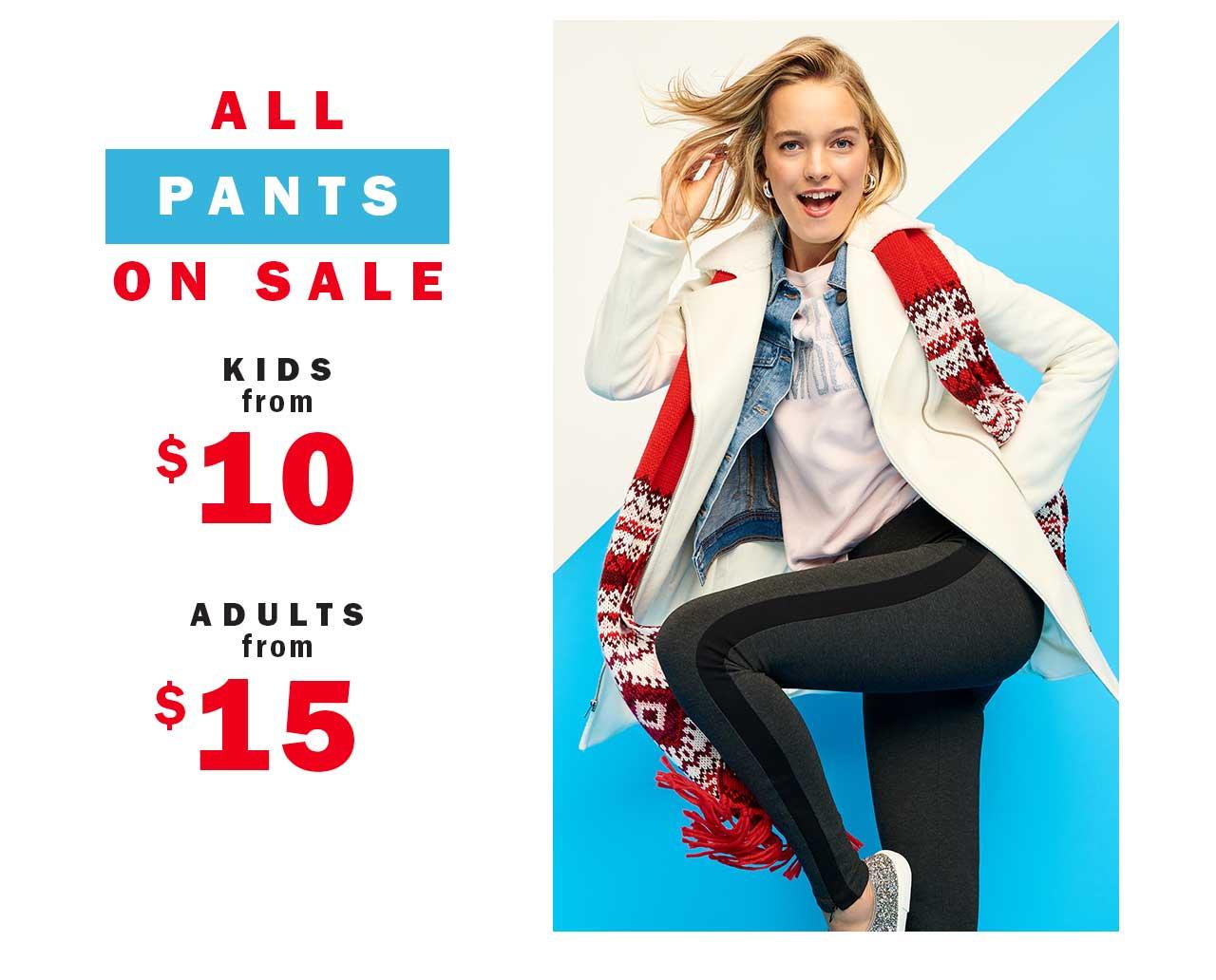 All pants on sale
