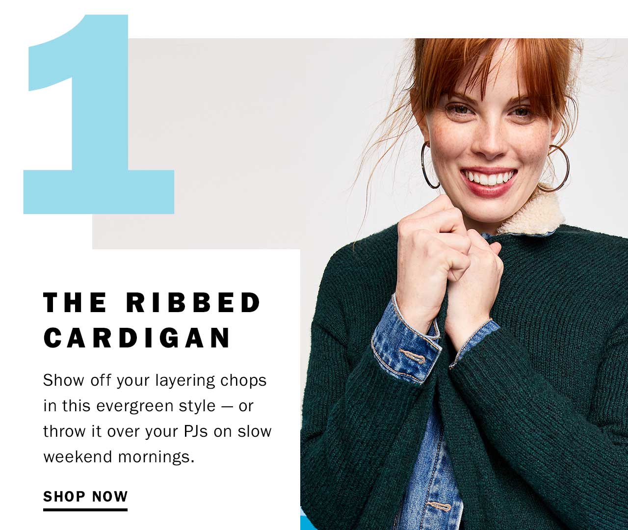 The ribbed cardigan