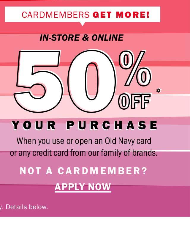 In-store & Online | 50% off*